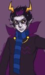 Drawing Eridan while Venting by SnowpirateRoy