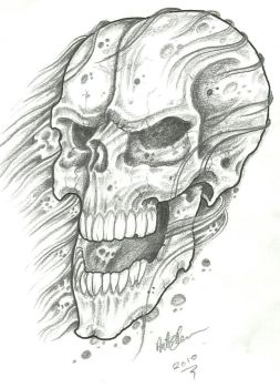Crappy Skull Sketch by vikingtattoo