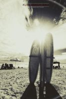 Kuta beach w B/W by TooLeh22