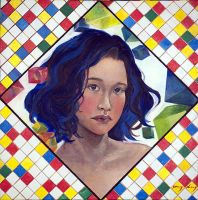 Tracy Leung - self-portrait by QCC-Art