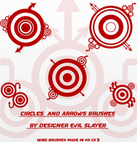 CIRCLES AND ARROWS BRUSHES by Evil-Slayer