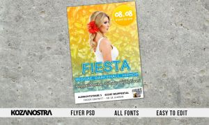 Party Flyer Template PSD easy to edit by KZNDSGN