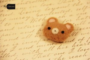 needle felt teddy FOR SALE by FluffyParcel
