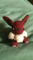 Tiny Eevee plush front view by NerdLass