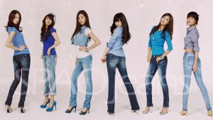 SNSD in SPAO jeans_2 by rhuday