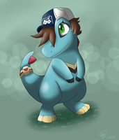 Commission: Cari the Totodile by Bluekiss131