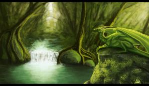 Rainforest Dragon by Denece-the-sylcoe