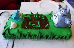My neighbor Totoro Cake by Kharen94th
