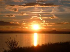 sunset on lake constance by Mella68