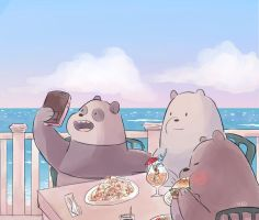[We Bare Bears] by a-zebra-was-here