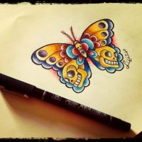 Traditional butterfly by LilithHate