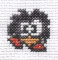 Psycho Fox Bird cross stitch by Lil-Samuu