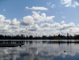Clouds over the Lake. by MegaPIG1o1