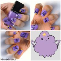 Lumpy Space Princess Nails by MishMreow