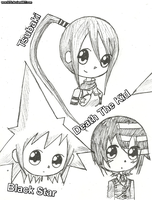 Soul Eater Doodles 1 by wow1076