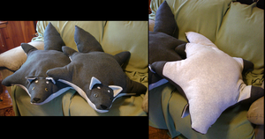 Wolves Plushie Pillows by Dragontrap