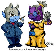 Sir Alistair and Lady Belvedere by trinityweiss