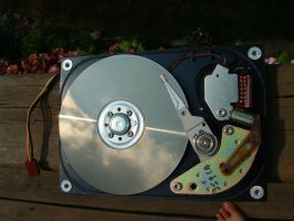 tech 07 - hard disk by n-gon-stock