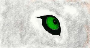 Green Wolf Eye by KiRaXwOlF