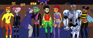 Teen Titans Valentines Day by crocrus