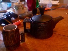 Stovepipe Teapot and Cup by EricaVee