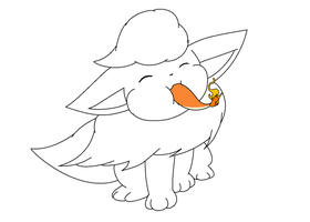Flareon lineart 'request' by michy123