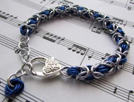 Blue and silver bracelet by TerraNovaJewels