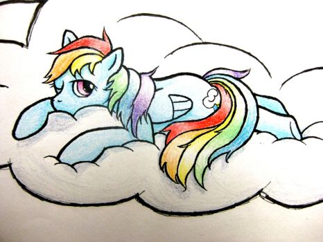 Sleepy Dash (with crayons!) by alphabetsoup314