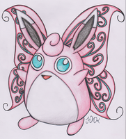Old Pokemon, New Type 13: Wigglytuff by Shabou