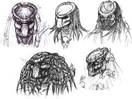 Predator Portraits II by ButtZilla