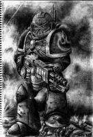 Space Marine pencil by stucat