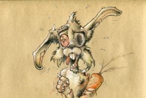 Walking Dead Rabbit !!! by krukof2