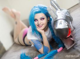 Casual Jinx from League of Legends by xAndrastax