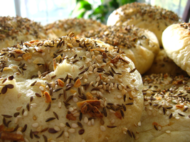 Homemade Everything Bagels by mrskupe