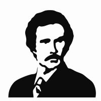 Ron Burgundy Stencil by Custard-Cream