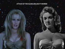 DARYL HANNAH VS ALISON HAYES by darthbriboy