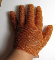 Wire crochet glove by CatsWire