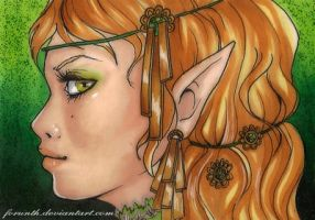 ACEO 6: At the end of the line far far away by Forunth