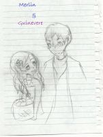 Guinevere and Merlin- Hello. by iLSNerd