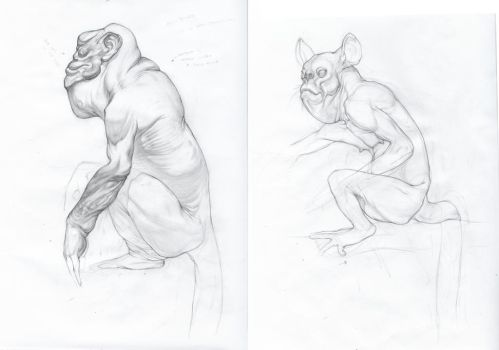 Primate creatures by pure-in-heart