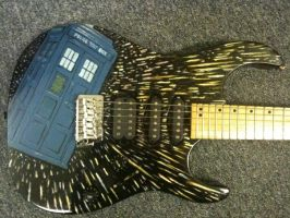 Hand Painted Dr Who Guitar by gixxer11