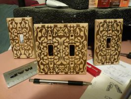 Laser-etched Switchplates by savageworlds