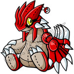 Pokemon- Groudon Plushie by cartoonist