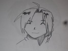 Edward Elric Smilie Face by Hakanania