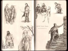 Fantasy character sketches 2 by aautio