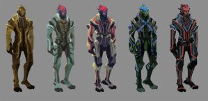 Concepts: Alien detective by axl99