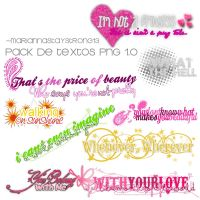 Textos PNG 1.0 (Pack) by MariannaStayStrong13