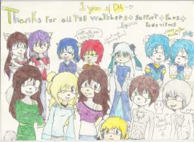 Thanks you all for everything! (1 year on DA) by Eduardathewolf