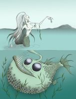 Coloured mermaid by QuothTheRaven-