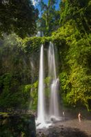 Indonesia waterfall stock by little-spacey
